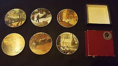 VINTAGE SET OF 6 - LADY CLARE - COASTERS - Four Seasons  - BOXED