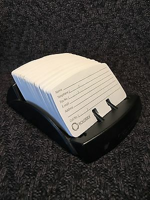 Rolodex Open Card File With Blank Cards