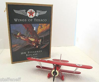Wings of Texaco 1931 Stearman Biplane Airplane 3rd in Series Ertl Collectibles