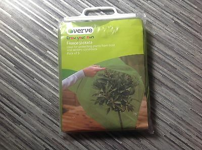 New. Pack Of 3 Garden Plant Fleece Warming Jackets. Protect From Frost / Winter.
