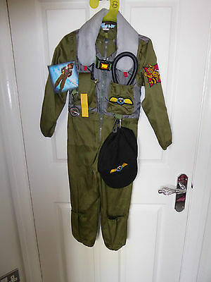 Fighter Pilot Jumpsuit With Attached Vest & Accessories Age 5-6 - Bnwt
