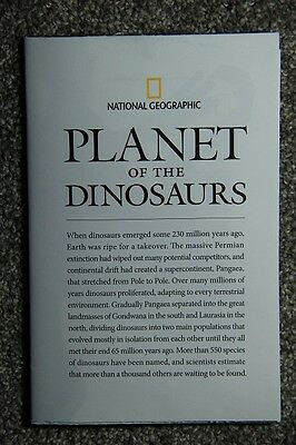 National Geographic Map PLANET OF THE DINOSAURS December 2007