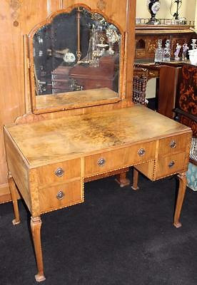 Fine Art Deco 1930's Walnut Dressing Table with Mirror by Gaylayde
