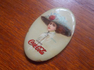 Coca Cola 1910 Celluloid Covered Pocket Mirror