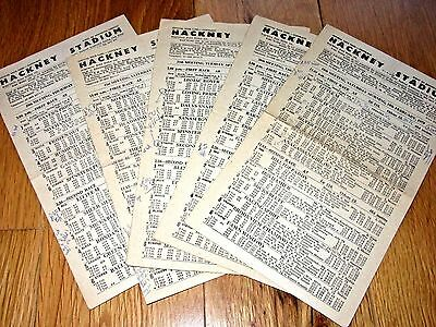 5 x 1979 Hackney Wick London Greyhound Racecards @ Only 99p Each To Clear