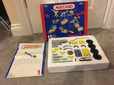 Vintage Meccano boxed set number 1, 1992. 15 Different Models. RARE