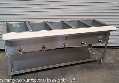 NEW 5 Well Gas Steam Table Duke AeroHot WB305 Water Bath NSF #4404 Commercial