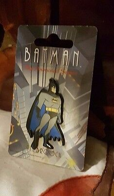 Batman The Animated Series Pin Badge Vintage on Card
