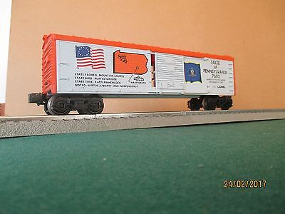 """Lionel 'O' Gauge """"Boxcar - State of Pennsylvania - Spirit of '76"""" VGC (Boxed)"""