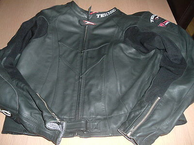 Teknic 2 piece leather motorcycle suit, Size 50