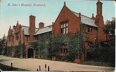 Old Postcard. St. John's Hospital, Droitwich.