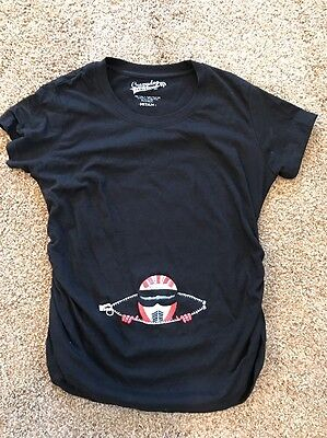 Funny Racing Baby Belly Maternity Black Shirt