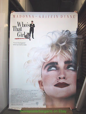 MADONNA WHO'S THAT GIRL MOVIE POSTER Original BUS STOP 4x6 feet HUGE ! 1987 FILM