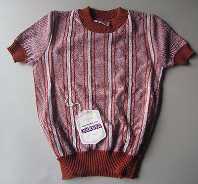vintage boys jumper age 6-7 brown striped 40's style evacuee world book day