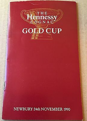 Horse Racing Programme - Newbury 24/11/1990 - Hennessy Gold Cup