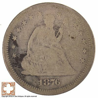 1876-S Seated Liberty Quarter Dollar *J40
