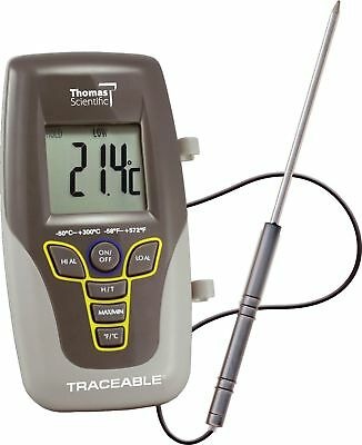 "Thomas Traceable Kangaroo Thermometer 7.5"" Probe Length -58 to 572 degree F -..."