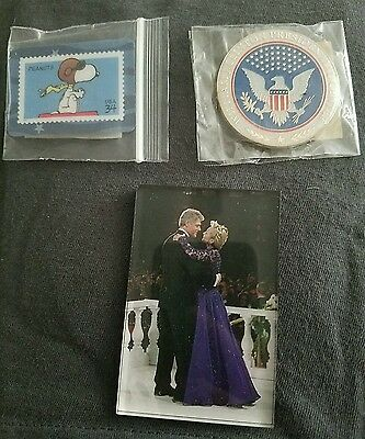Lot of 3 Hillary and Bill Clinton official museum magnets. Coin. Free shipping!
