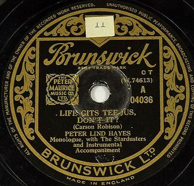 Schellackplatte - Peter Lind Hayes - Life Gits Tee-jus, Don't It? / That Certain