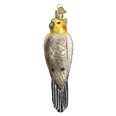 Cockatiel Old World Christmas Tree Ornament NWT mouth blown glass