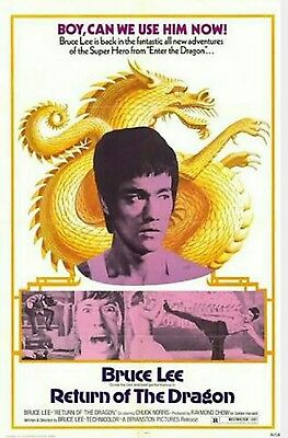 Bruce Lee Return Of The Dragon Original Movie Poster