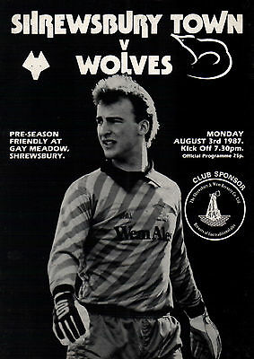 1987/88 Shrewsbury Town v Wolves, friendly - PERFECT CONDITION