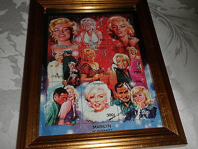 Framed Marilyn Monroe Commemorative  Collectible Mint Stamp Sheet By Benhams