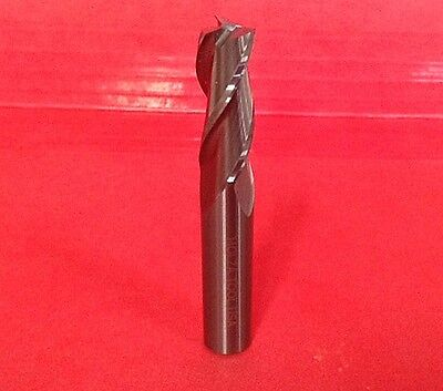 "Carbide Endmill 3/8"" Dia 1"" Loc 3 Flute Rhs Rhc 2-1/2 Oal Center Cutting Usa"