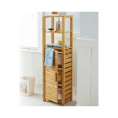 Bamboo Cabinet Bathroom Furniture Space Saver Storage Shelves Narrow Shelf Tower. Bathroom Shelves Narrow Space Saver Storage And Organization