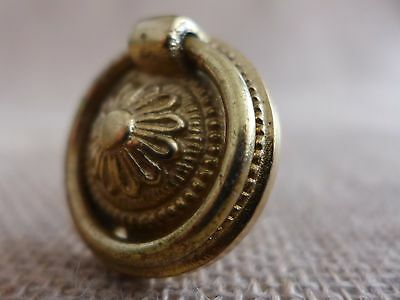 Solid Brass Pull Ring Handle Knob Project Door Drawer