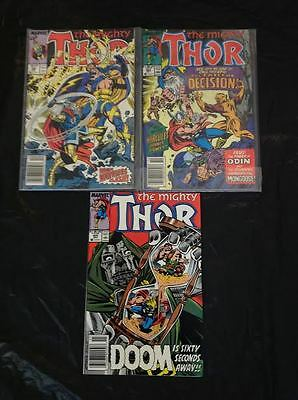 The Mighty Thor Marvel Comics: #386, 408, 409 - Well Packaged VGC