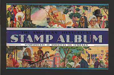 1937 AMOCO Stamp Album - Complete mint