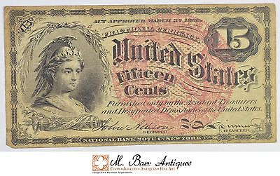 1863 15 Cents 4th Issue Fractional Currency *352