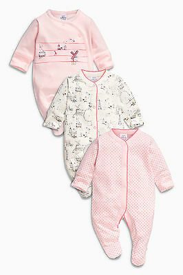 ВNWT NEXT Baby Playsuits • Windmill Sleepsuit 3pk • 100% Cotton • Early Baby 5lb