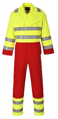 Portwest Bizflame Services Coverall - Yellow  - XL - FR90