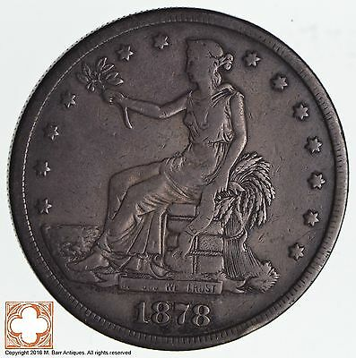1878-S Trade Seated Liberty Silver Dollar *1238