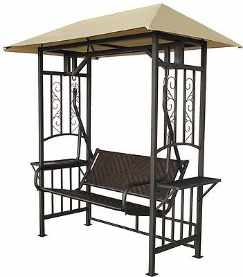 Replacement Canopy Deluxe Swing Seat Natural Coloured Outdoor Garden Furniture