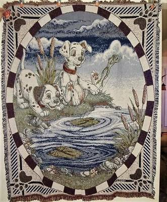 NEW 101 DISNEY DALMATIONS  Tapestry Afghan Throw Blanket