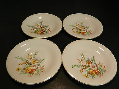 """Vintage Set of (4) Edwin Knowles Daisy Pattern Saucers 6"""" Excellent Condition"""