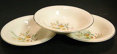 """Vintage Set of (3) Edwin Knowles Daisy Pattern Bowls 5.38"""" x 1"""" Excellent Cond"""