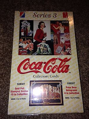Coca Cola Coke Collector Cards Series 3 Trading Card Box Factory Sealed