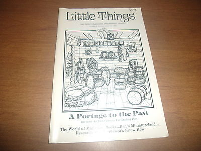 Little Things the First Canadian Miniaturist Digest October 1983 Volume 2 #4