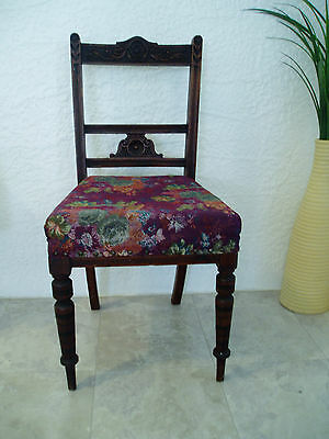 Antique Carved  Wooden Dining Chair