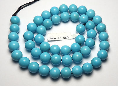 "15.5"" Strand SLEEPING BEAUTY TURQUOISE 8mm Round Beads AA+-AAA NATURAL COLOR R19"