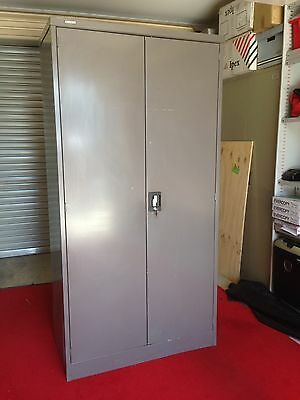 Office or Warehouse or Garage or Stationary Metal Storage Cabinet Full Height