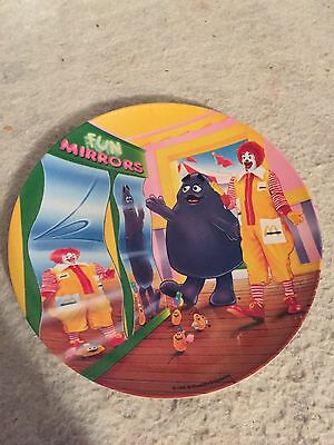 Vintage 1993 PMC McDonald's Fun Mirrors Plate Grimace Ronald Mcnuggets. Plastic