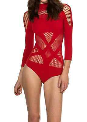 Black Milk A-SASSY-NATION RED BODYSUIT SOLD OUT - NOT AVAILABLE DISCONTINUED