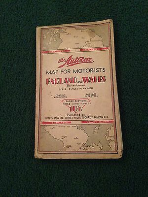 "1920s Autocar fabric road map of ""North Upper"" Britain"