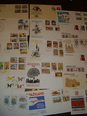 Swaziland First Day Covers x 18 different from 1980-82  Lot 12 *SEE 11 PHOTOS*