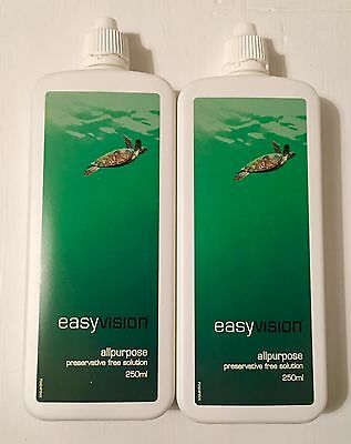 2 X 250ml Specsavers Easy Vision All Purpose Contact Lens Solution Exp 12/2018